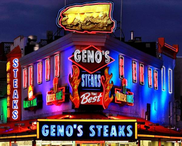 Genos Print featuring the photograph Cheesesteak Heaven by Benjamin Yeager