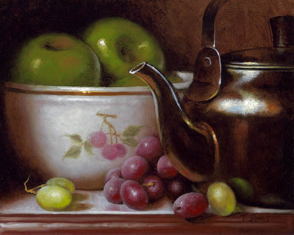 China Art Print featuring the painting China Bowl And Teapot by Timothy Jones