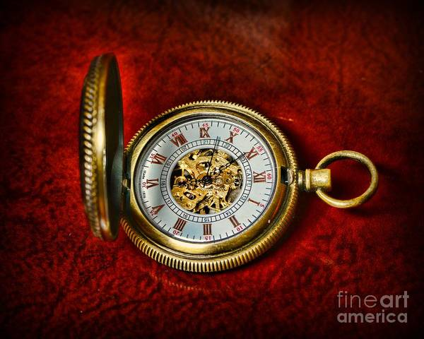 Paul Ward Art Print featuring the photograph Clock - The Pocket Watch by Paul Ward