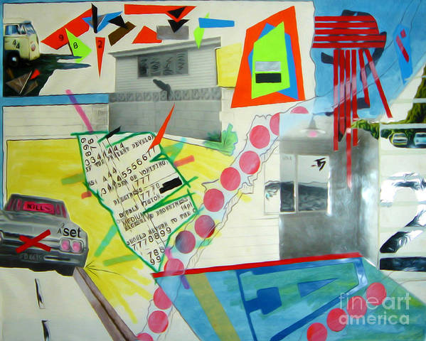444 Art Print featuring the drawing Collage 444 by Bruce Stanfield