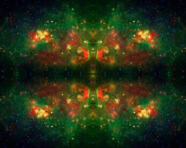 Universe Art Print featuring the photograph Cosmic Kaleidoscope 3 by Jennifer Rondinelli Reilly - Fine Art Photography
