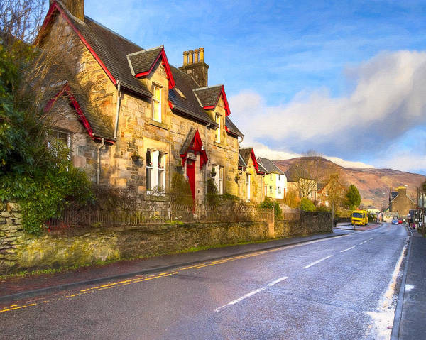 Cottages Art Print featuring the photograph Cozy Cottage In A Scottish Village by Mark E Tisdale