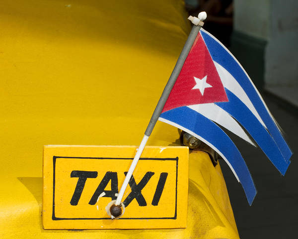 Cuba Art Print featuring the photograph Cuba Taxi by Norman Pogson