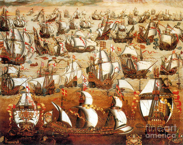 History Art Print featuring the photograph Defeat Of The Spanish Armada 1588 by Photo Researchers