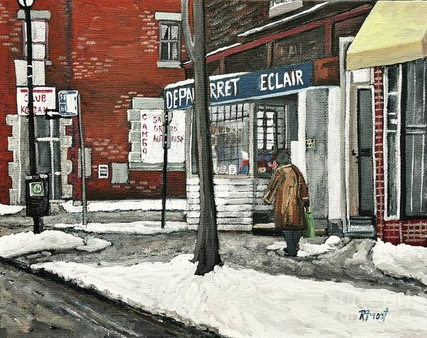 Paintings Art Print featuring the painting Depanneur Arret by Reb Frost