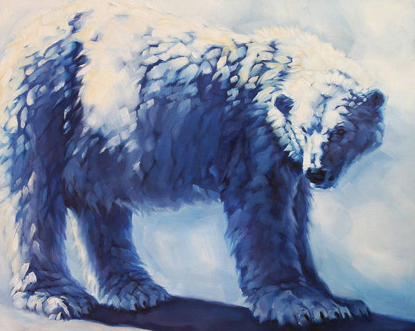 Animals Art Print featuring the painting Dream Bear by Carrie Cook