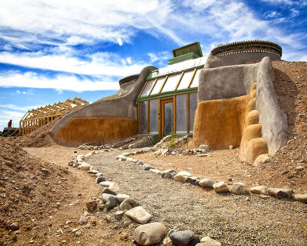 Landscapes Art Print featuring the photograph Earthship Taos by Shanna Gillette