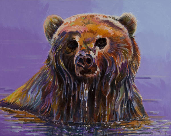 Wildlife Paintings Print featuring the painting Embarrassed by Bob Coonts