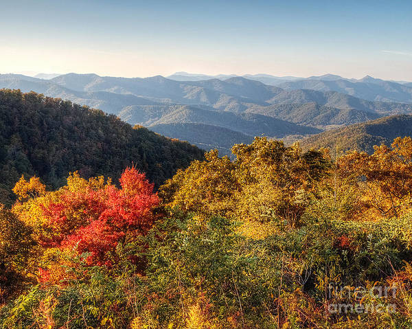 Mountains Art Print featuring the photograph Endless Autumn Mountains by Emily Kay