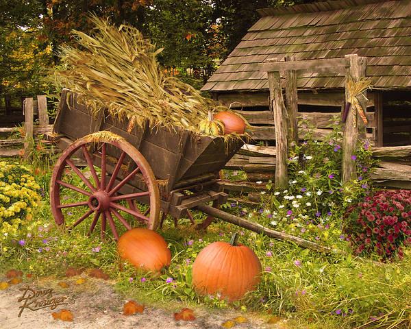 Essence Of Autumn By Doug Kreuger Art Print featuring the digital art Essence Of Autumn by Doug Kreuger