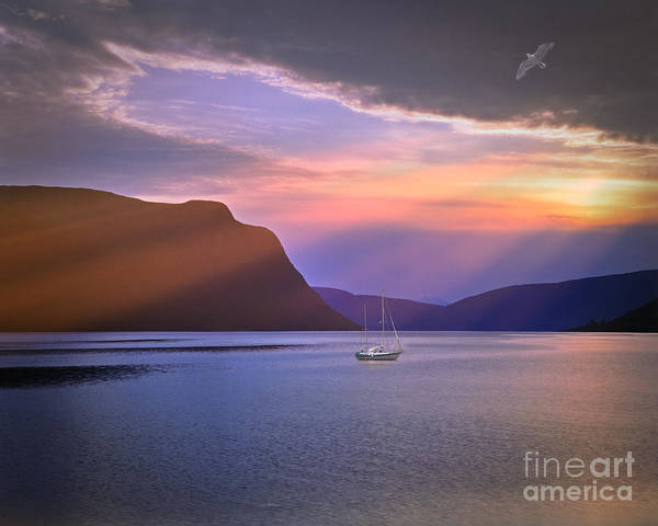 Europe Art Print featuring the photograph Fading Of The Light by Edmund Nagele