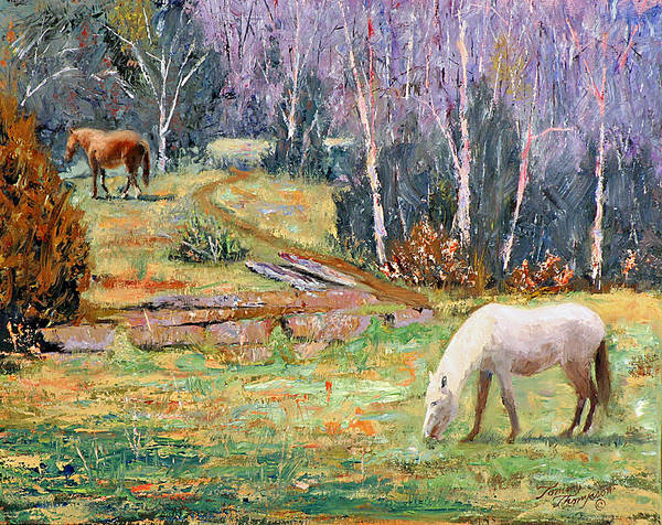 Landscape Art Print featuring the painting Farm Pleasure by Tommy Thompson