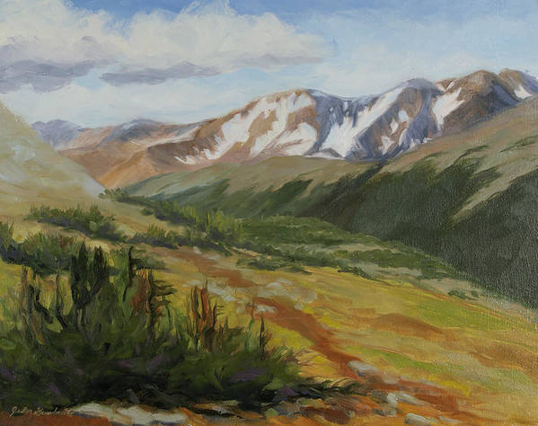 Rocky Mountain National Park Art Print featuring the painting From The Top by Julia Grundmeier