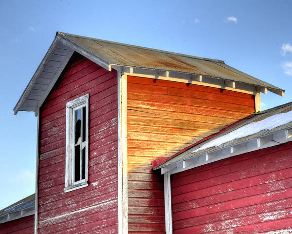 Ft Print featuring the photograph Ft Collins Barn 13502 by Jerry Sodorff