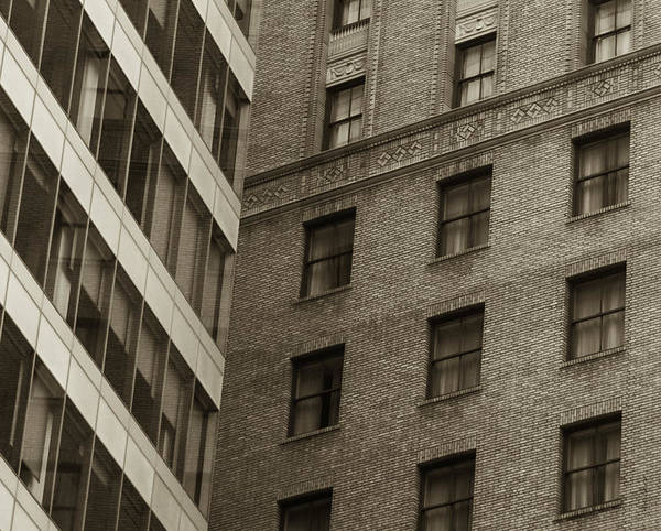 Architectural Art Print featuring the photograph Futures Past - Architecture Abstract by Steven Milner