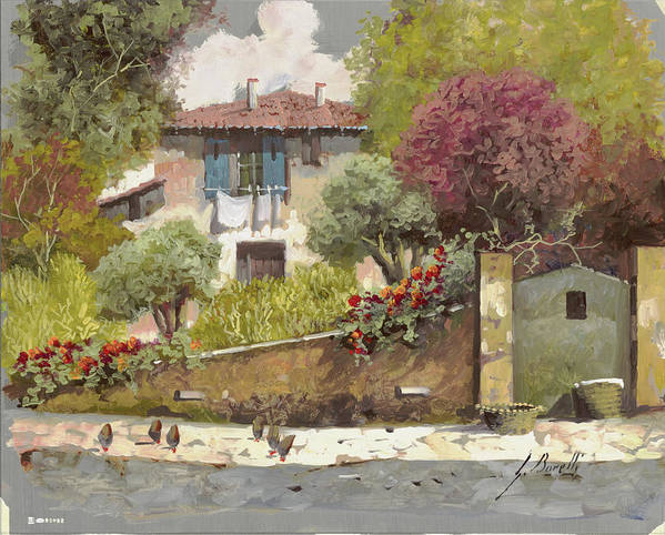 Silber Print featuring the painting Galline by Guido Borelli