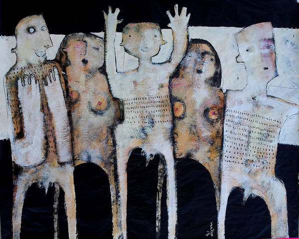 Figures Art Print featuring the painting Grego No.3 by Mark M Mellon