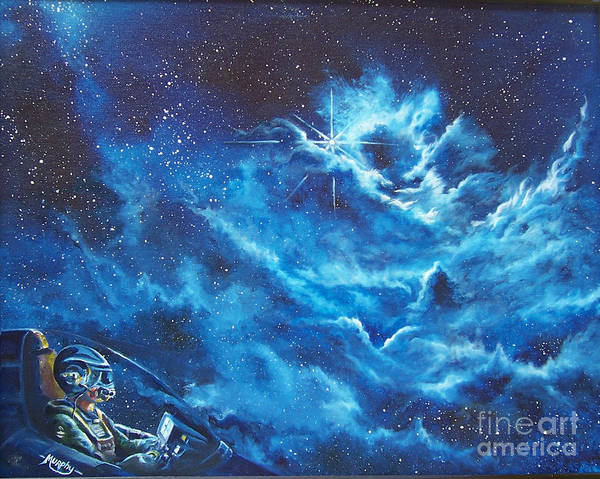 Astro Art Print featuring the painting Heavens Gate by Murphy Elliott