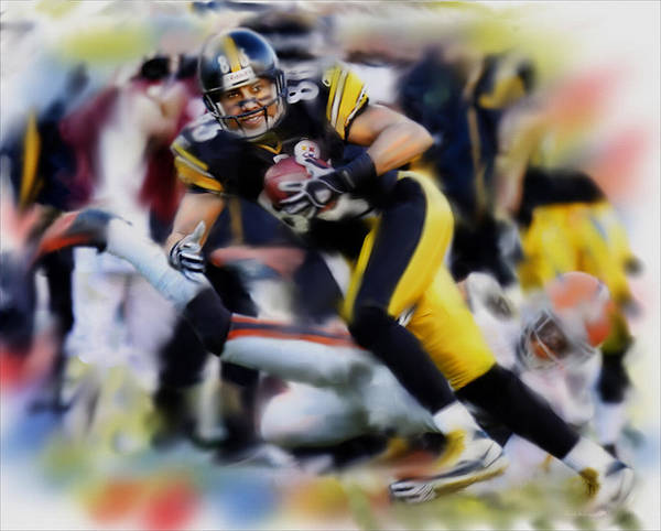 Pittsburgh Steelers Art Print featuring the painting Hines Ward by Dwayne Graham