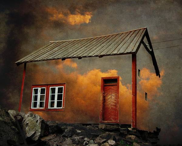 Surrealism Art Print featuring the photograph House In The Clouds by Sonya Kanelstrand