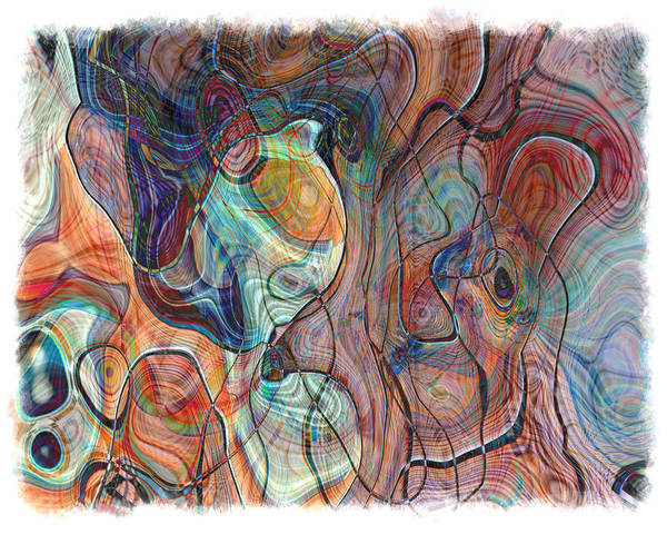 Abstract Art Print featuring the photograph In My Minds Eye by Susan Leggett
