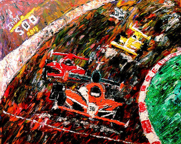 Indy 500 Art Print featuring the painting Indy 500 by Mark Moore