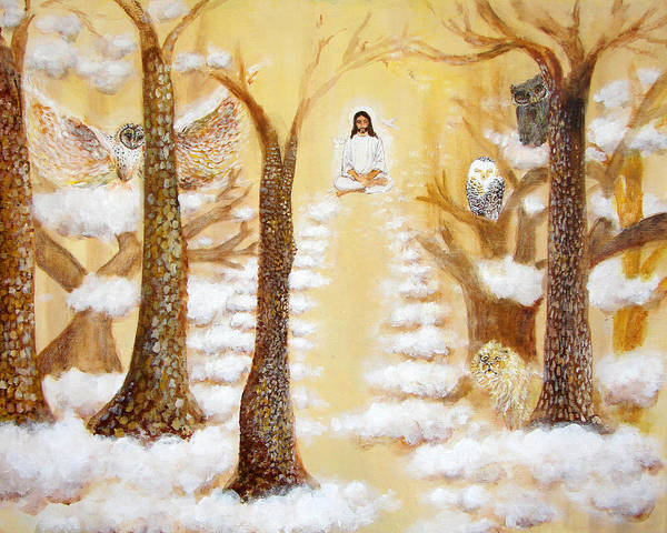 Christ Art Print featuring the painting Jesus Art - The Christ Childs Asleep by Ashleigh Dyan Bayer
