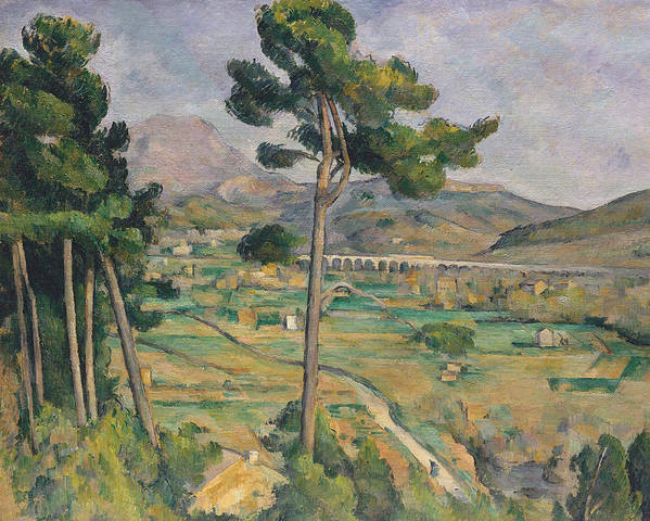 Landscape With Viaduct Art Print featuring the painting Landscape With Viaduct by Paul Cezanne