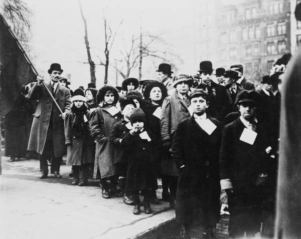 1910s Candid Art Print featuring the photograph Lawrence Textile Strike. Strikers by Everett