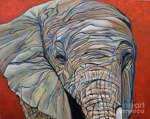 Elephant Art Print featuring the painting Lazy Boy by Aimee Vance