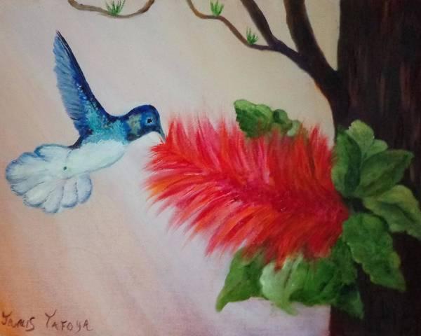 Janis Tafoya Print featuring the painting Let's Celebrate Spring Is Here by Janis Tafoya