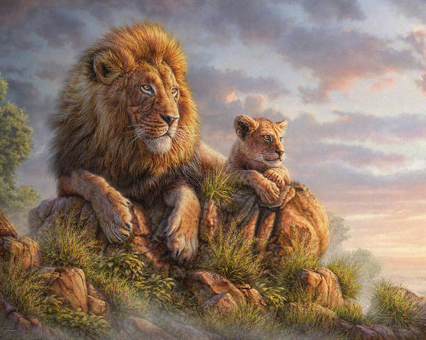 Lion Art Print featuring the mixed media Lion Pride by Phil Jaeger