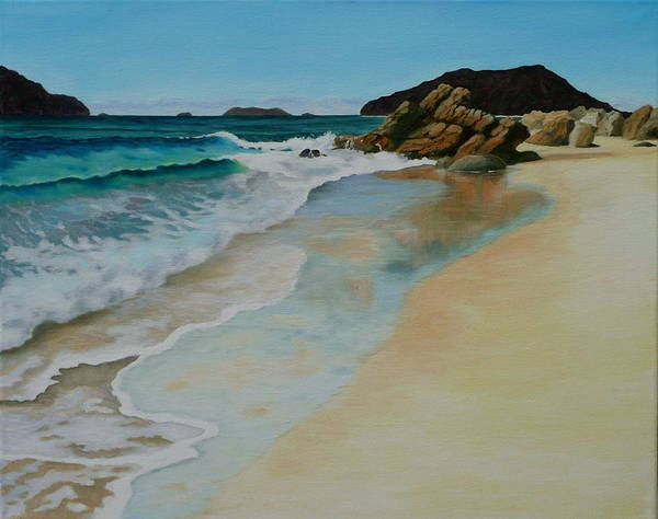 Jo Appleby Art Print featuring the painting Making Waves by Jo Appleby
