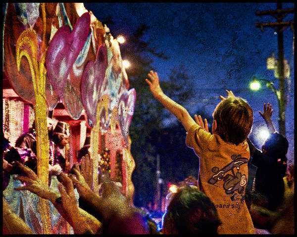 mardi Gras Print featuring the photograph Mardi Gras At Night by Ray Devlin