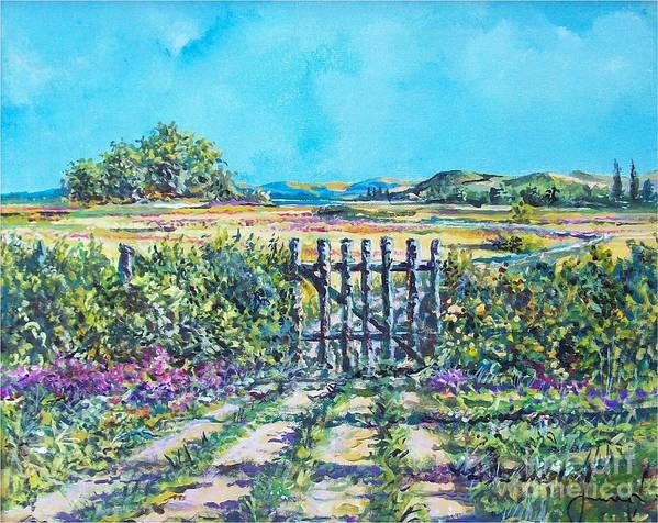 Nature Art Print featuring the painting Mary's Field by Sinisa Saratlic