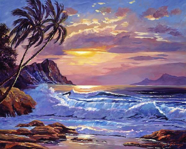 Maui Sunset Art Print By David Lloyd Glover