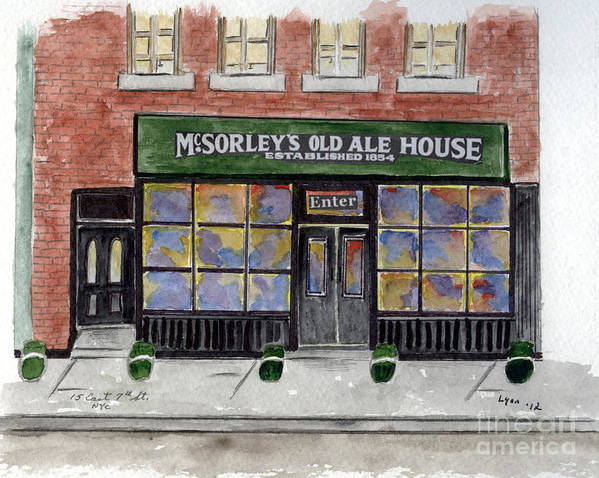 Greenwich Village Art Print featuring the painting Mcsorley's Old Ale House by AFineLyne