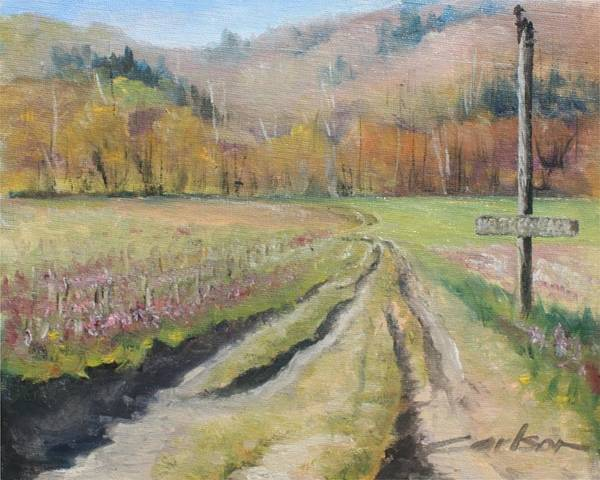 Plein Air Art Print featuring the painting No Trespassing by Kevin Carlson