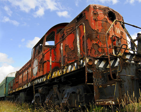 Trains Art Print featuring the photograph Old Rusted Locomotive by Shaun McWhinney