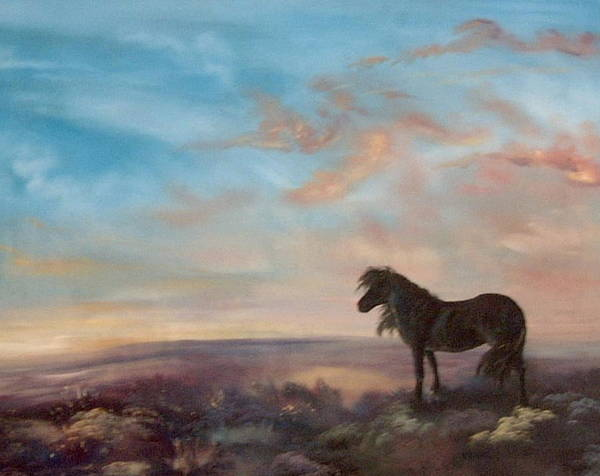 North Yorkshire Moors Art Print featuring the painting On Lookout by Jean Walker