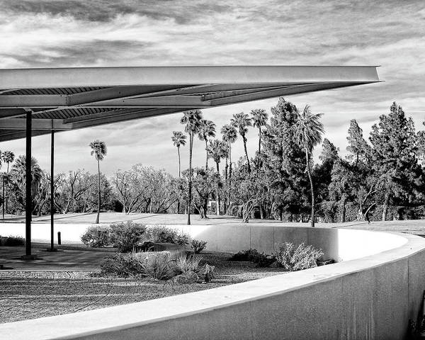 Palm Springs Art Print featuring the photograph Overhang Bw Palm Springs by William Dey