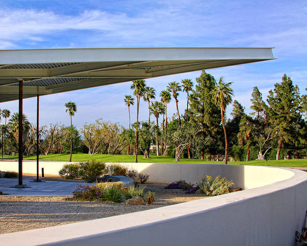 Palm Springs Print featuring the photograph Overhang Palm Springs Tram Station by William Dey