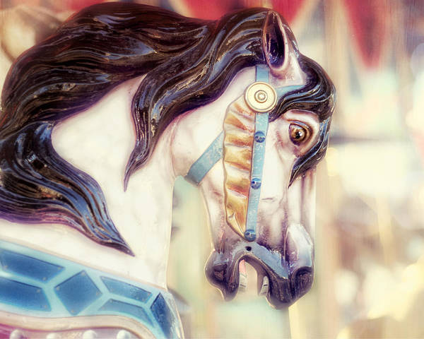 Merry Go Round Horse Art Print featuring the photograph Prince Charming by Amy Tyler