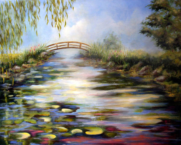 Pond Art Print featuring the painting Reflecting Pond by Alexandra Kopp