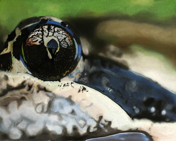 Frog Art Print featuring the drawing Self by David Alldridge