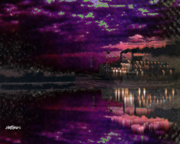 Silent River Art Print featuring the digital art Silent River by Seth Weaver
