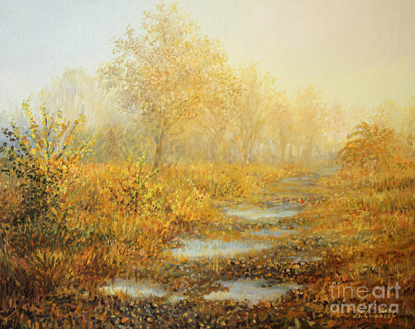 Nature Art Print featuring the painting Soft Warmth by Kiril Stanchev