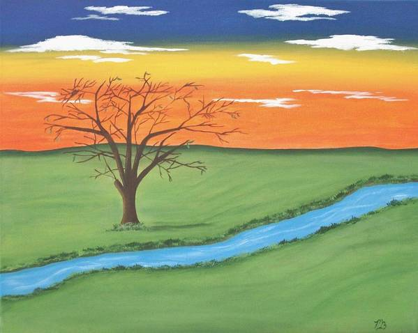 Tree Art Print featuring the painting Solitude by Melanie Blankenship