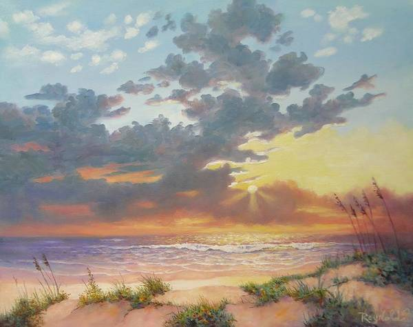 Seascape Print featuring the painting South Padre Island Splendor by Carol Reynolds