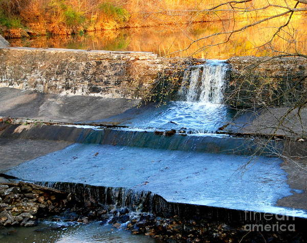 Landscape Art Print featuring the photograph Spillway Waterfall by Christy Phillips